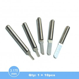 ZD3 3.175mm Single blade straight bits(Qty:1=10pcs)